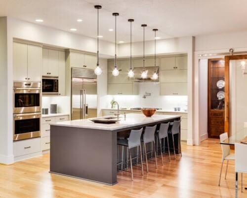 Moderne og åbent køkkenkoncept