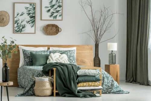 Flaskegrønne vægge, møbler og accessories