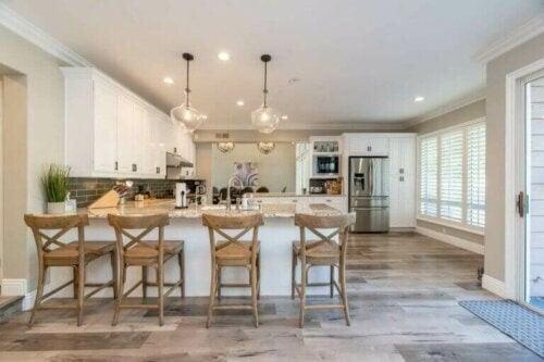 Et åbent køkken er en oase i familiehjemmet