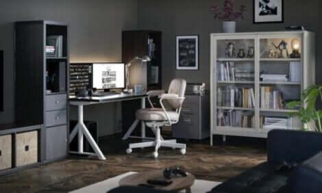 kontorområde til at spille computer