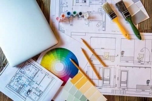 Tegninger af et hus