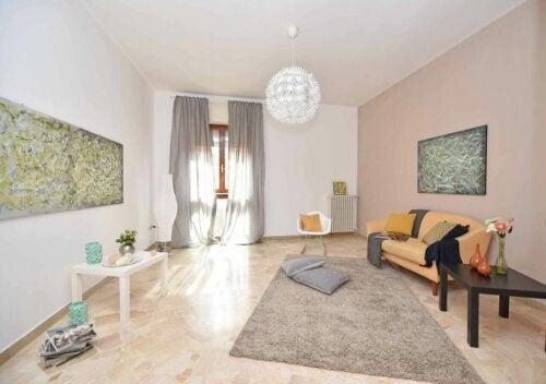 Blødt gulvtæppe til stuen