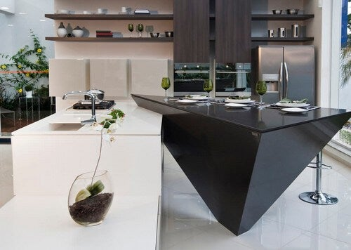Forskellige bordplader til køkkenet