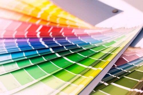 Farvekort med alverdens farver