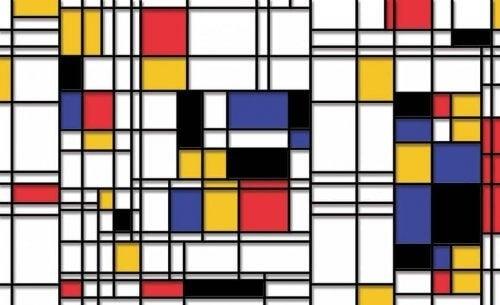 Maleri med geometriske former