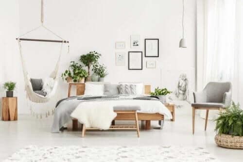 rumligt soveværelse