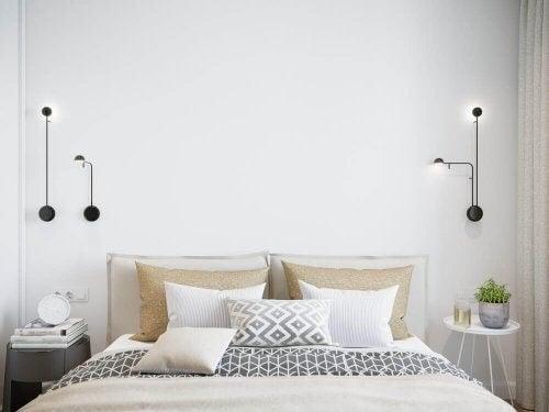 Små sideborde til små soveværelser i hjemmet