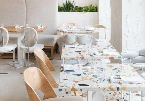 indretning af restaurant