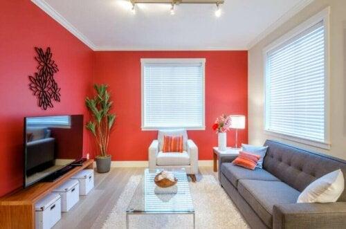 Forskellige måder at bruge farven rød på i din indretning