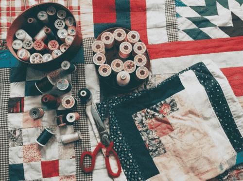 Sådan laver du patchwork med stofrester