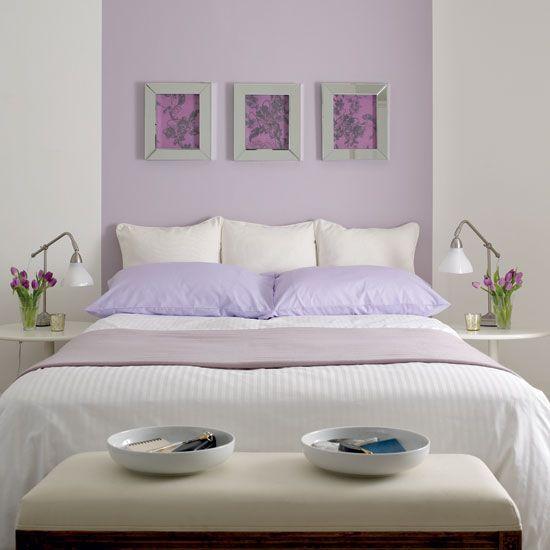 Trendfarbe Flieder: Fliederfarbene Dekoration im Schlafzimmer