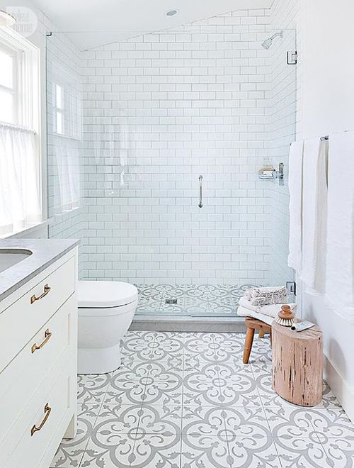 durchsichtige Duschwand