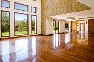 Brauner Holzboden