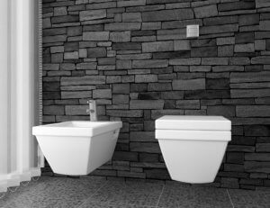 Bidet neben Toilette