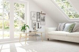 Wohnzimmer ganz in weiß