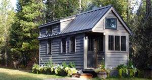 Mini-Häuser aus ökologischen Materialen