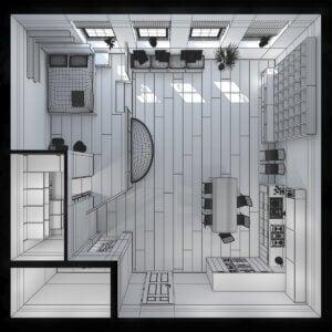 Plan eines Mini-Hauses