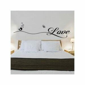 Wandfolie im Schlafzimmer
