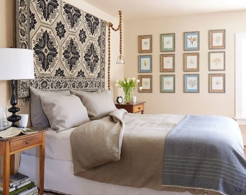 Wände mit Teppichen