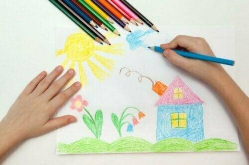 Die Kunstwerke deiner Kinder bringen aber nicht nur Farbe in dein Zuhause; wenn du sie im Dekor verwendest, bleiben ihre Kreationen auch dann erhalten, wenn sie größer werden.