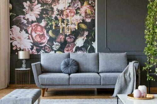 Wandbilder zum Aufkleben sind eine großartige Möglichkeit, einen Rosengarten in dein Wohnzimmer oder Schlafzimmer zu holen.