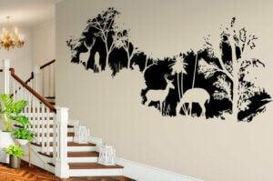 Nutze Landschaften, um den Eingangsbereich mit Wandtattoos zu dekorieren,