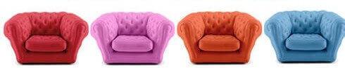 Aufblasbare Sessel sind Kinderzimmermöbel mit Spaßfaktor.