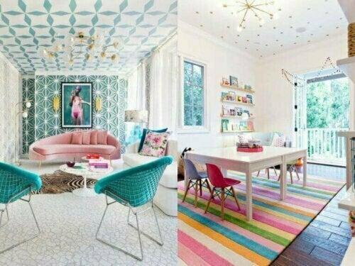 Du kannst mit Tapeten wunderschöne visuelle Effekt schaffen