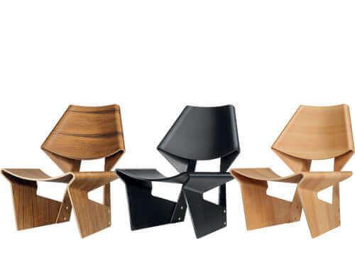 Grete Jalk – innovativer Stuhl in drei Farben