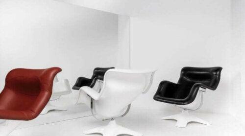 Yrjö Kukkapuros Stuhl ist eine Ikone