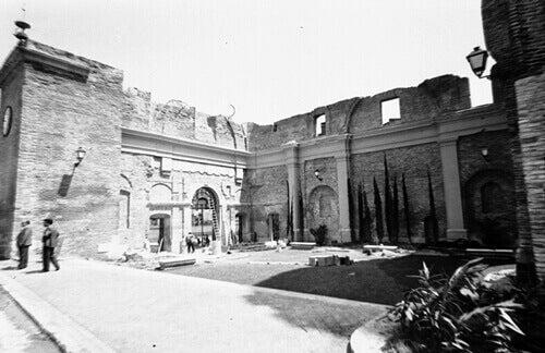Ruine während des Bürgerkriegs