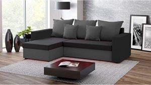 Grau-schwarzes Sofa