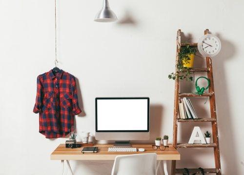 Eine Leiter ist ideal für den Arbeitsbereich