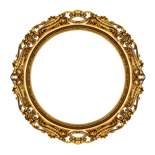 Ideen für Vintage-Spiegel im Schlafzimmer: runder Spiegel