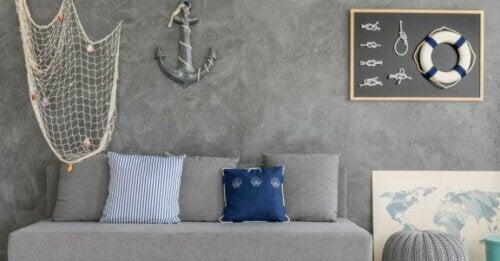 Wohnzimmer im nautischen Stil