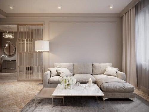 Chaiselongue-Sofa grau