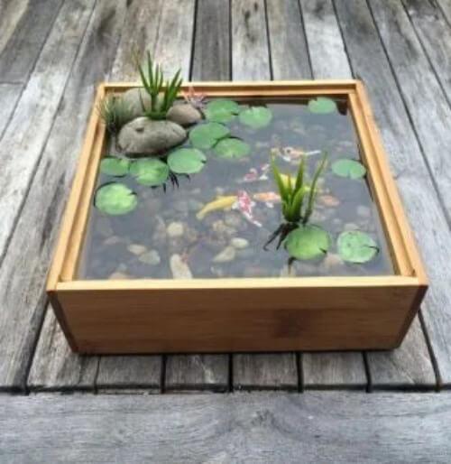 Fischbecken im Garten