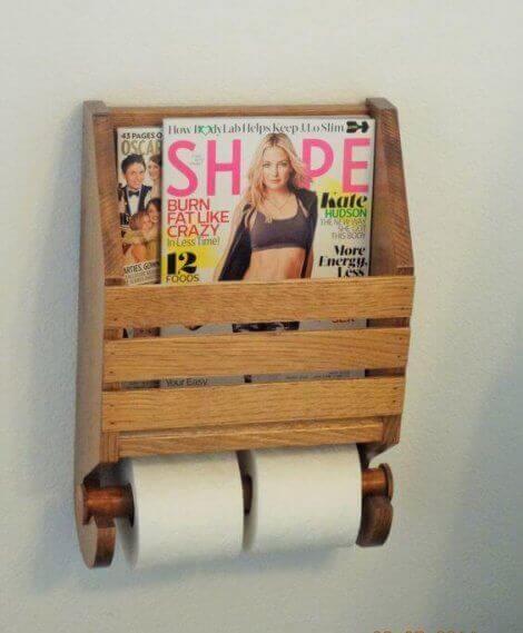 Kombinierter WC-Rollenhalter mit Zeitungsständer