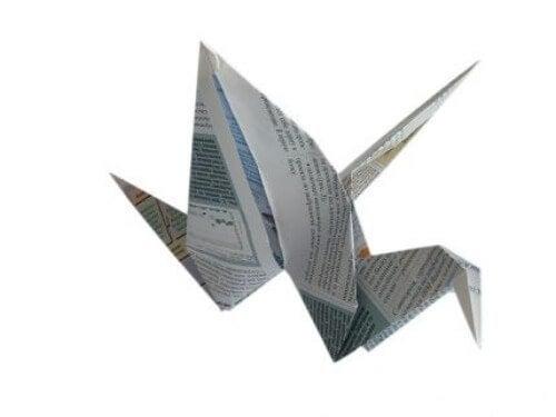 Origami aus alten Zeitungen