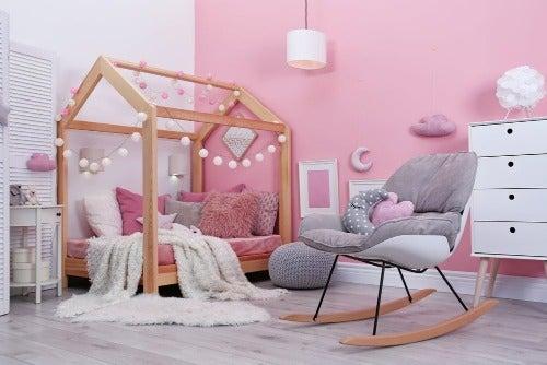 Babyzimmer in Rosa