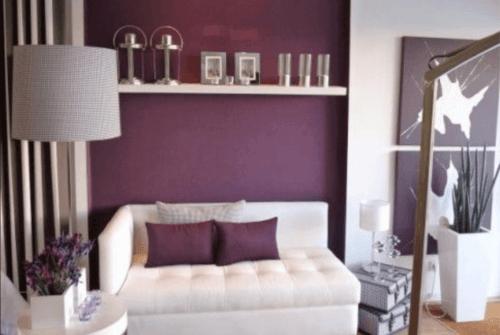 Auberginefarbene Wände für mehr Eleganz in deinem Zuhause