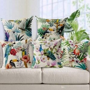 tropisches Dekor - Textilien