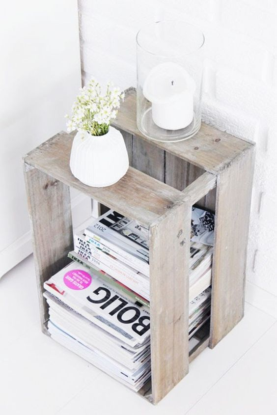 Cajas de madera para el salón