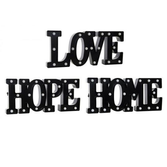 Cartel decorativo love hope home de Numashop