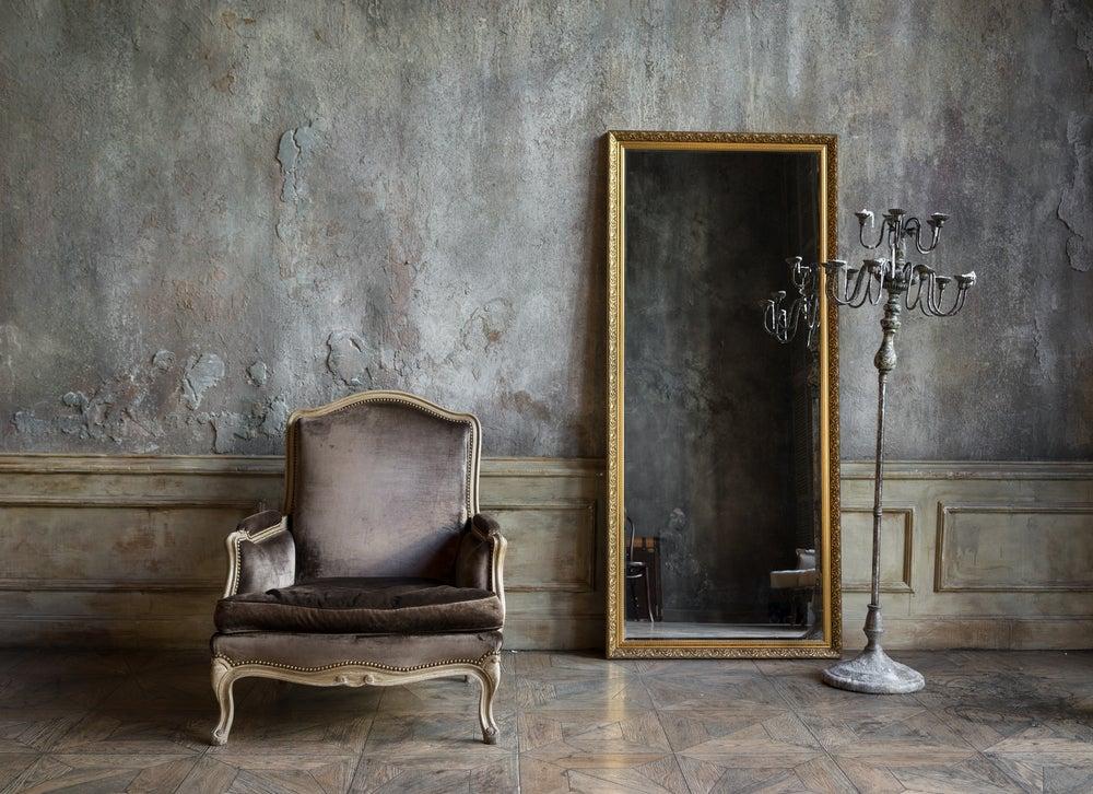 Espelhos vintage de corpo inteiro.