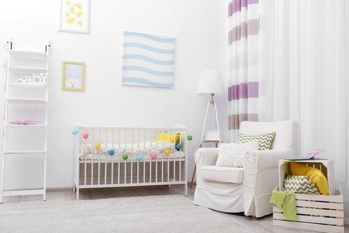 Decoración de muebles de una habitación infantil