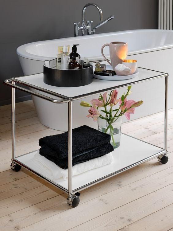 Carrito auxiliar grande para baño