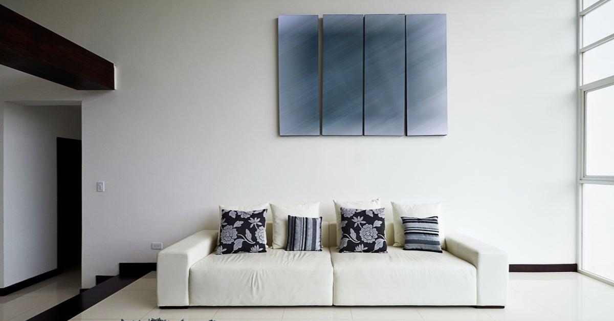 Decoración minimalista de un espacio mediante el juego geométrico y los colores