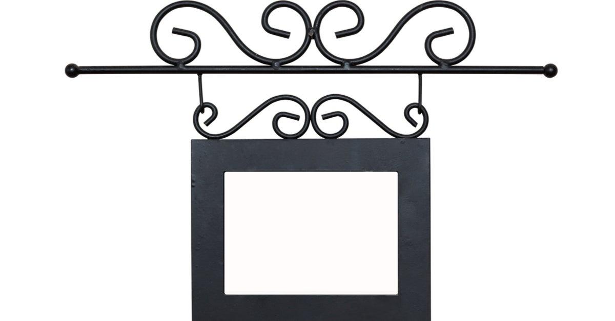 Espejo de forja en negro