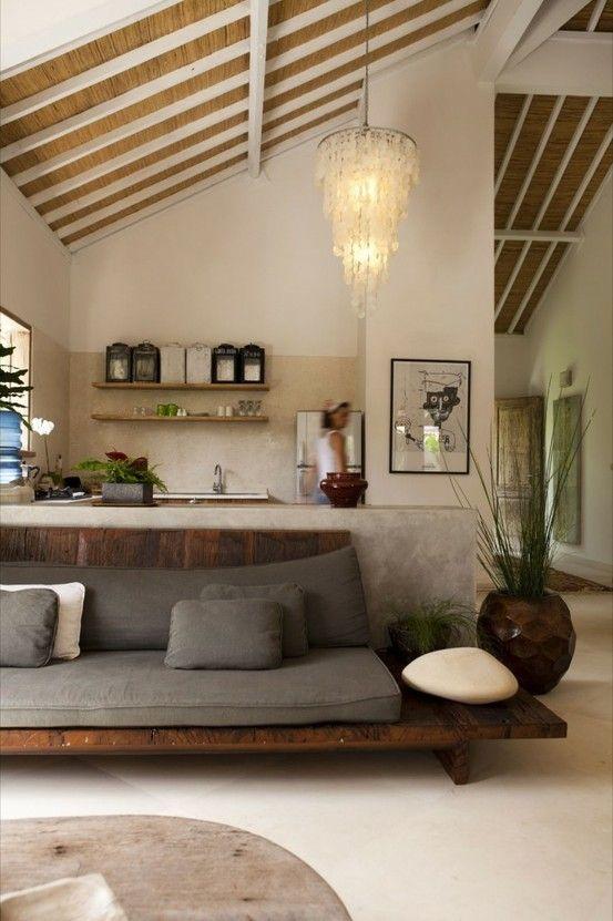 Estructura de madera para el sofá